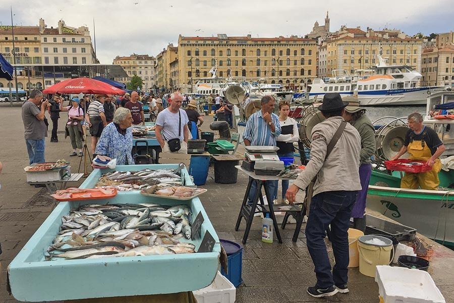 Fischer im Hafen von Marseille © Siegbert Mattheis