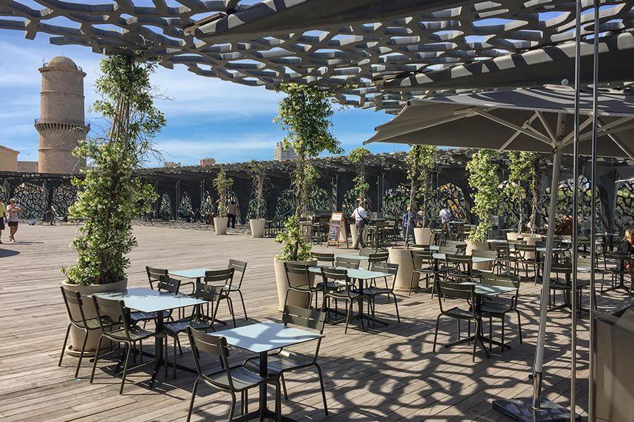 MUCEM Cafe Marseille © Siegbert Matheis