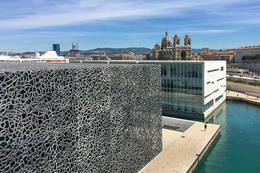 MUCEM und Villa Mediterranée mit Blick auf die Kathedrale © Siegbert Mattheis