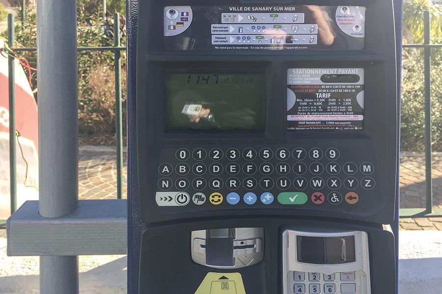 Parkautomat in Frankreich © Siegbert Mattheis