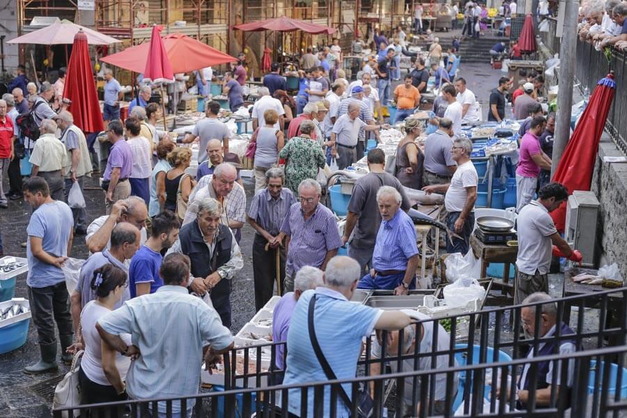 Der Fischmarkt in Catania © Siegbert Mattheis