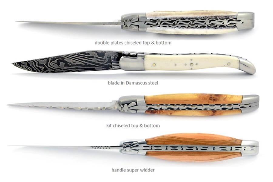 Unterschiedliche Laguiole Messer aus der Schmiede Honoré Durand © Coutellerie de Laguiole Honoré Durand