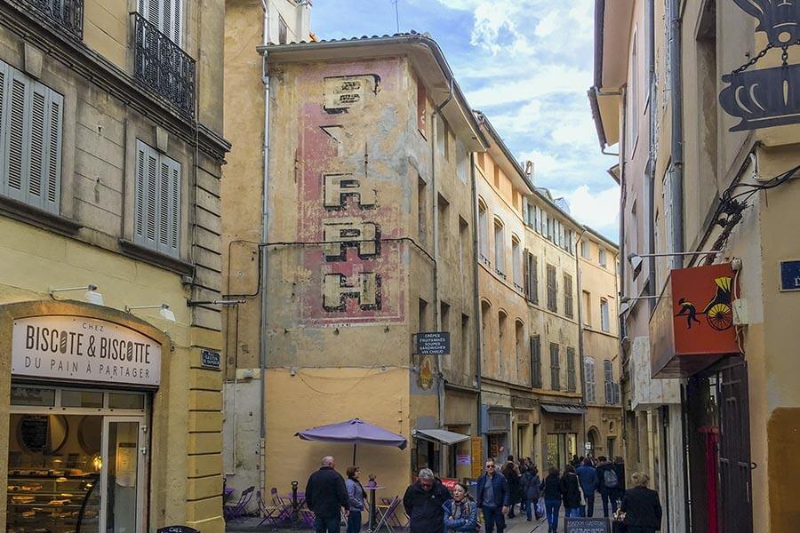 BYRRH-Werbung in Aix-en-Provence © Siegbert Mattheis
