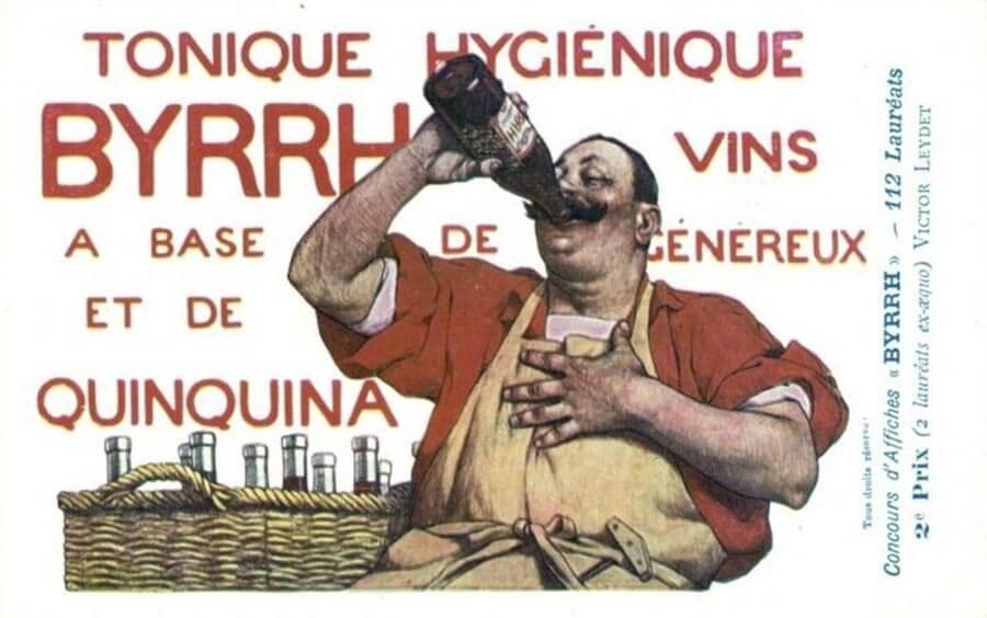 BYRRH-Werbung damals, heute weniger ansprechend © Wikipedia