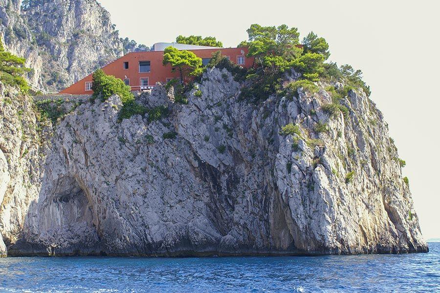 Casa Malaparte von Westen aus gesehen © Siegbert Mattheis