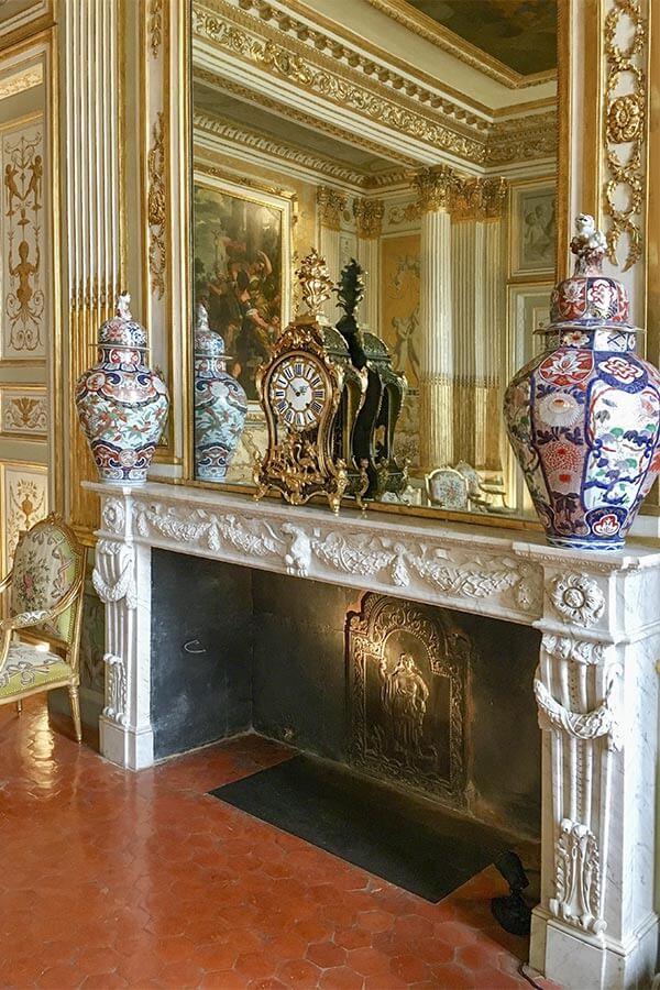 Kaminspiegel im Schloss Borély in Marseille © Siegbert Mattheis