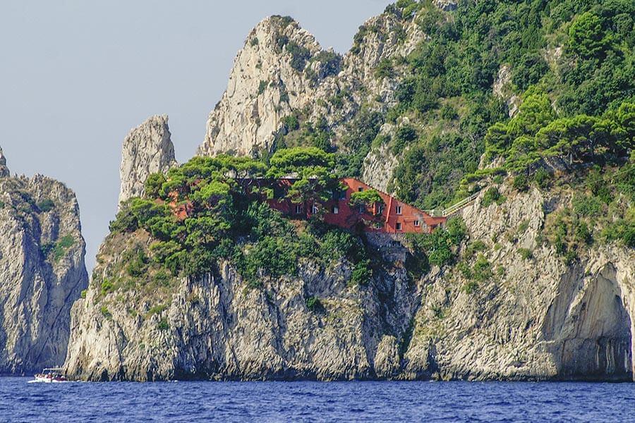 Die Villa Malaparte auf Capo Masullo © Siegbert Mattheis