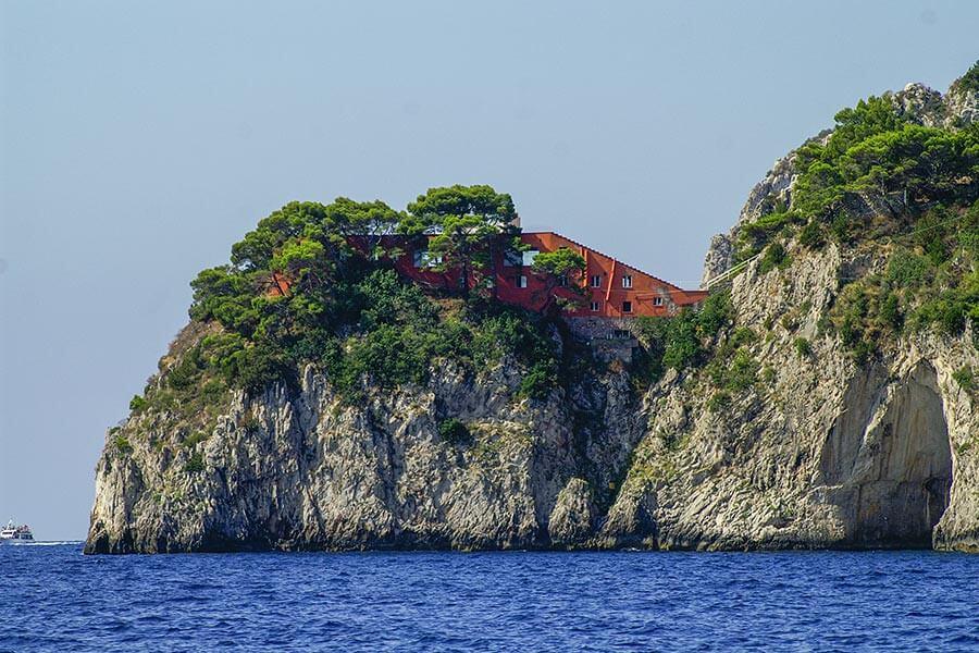 Die Villa Malaparte von Osten aus © Siegbert Mattheis
