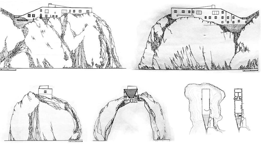 Plan der Villa Malaparte © Wikipedia