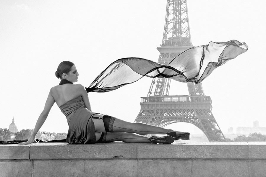 Cervin 10 Den Nylonstrumpf mit Naht Rialto © Cervin Paris