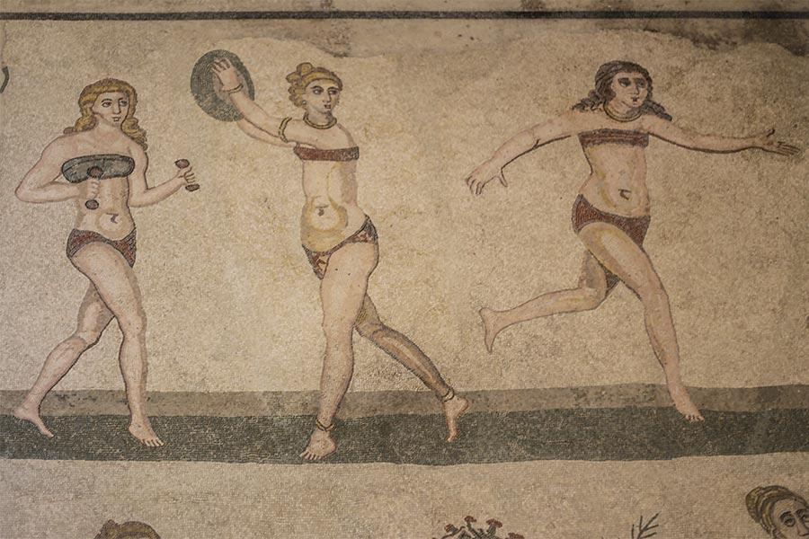 """Die """"Bikini-Mädchen"""" aus der Villa Romana del Casale © Siegbert Mattheis"""