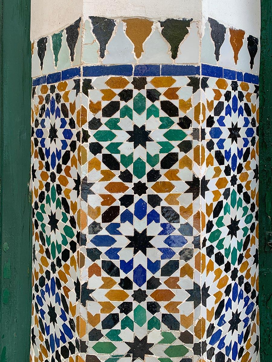 Mosaik-Fliesen im Bahia-Palast in Marrakech