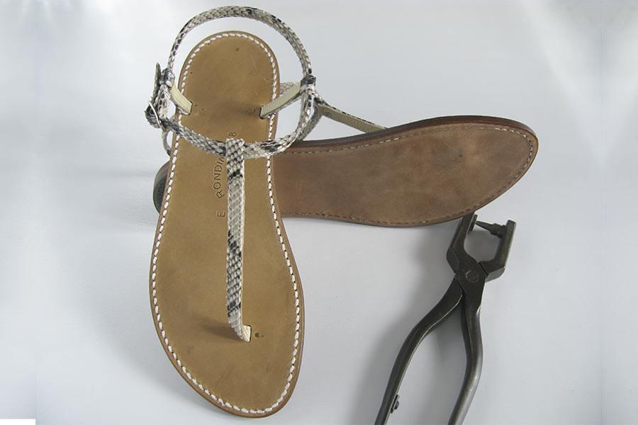 Rondini Tropeziennes-Sandalen mit Python-Schlangenleder © Rondini