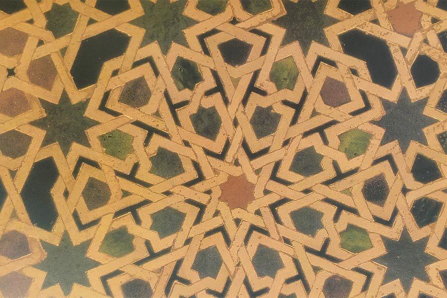 Detail aus einem Fayencemosaik in der Alhambra, Granada © Siegbert Mattheis