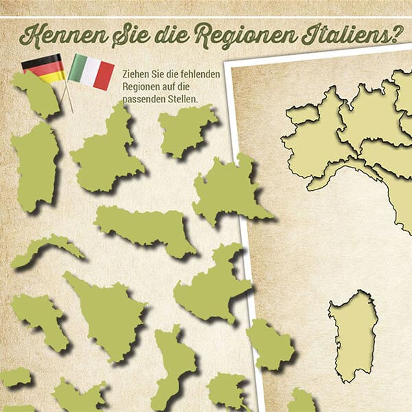 Italien Puzzle interaktiv