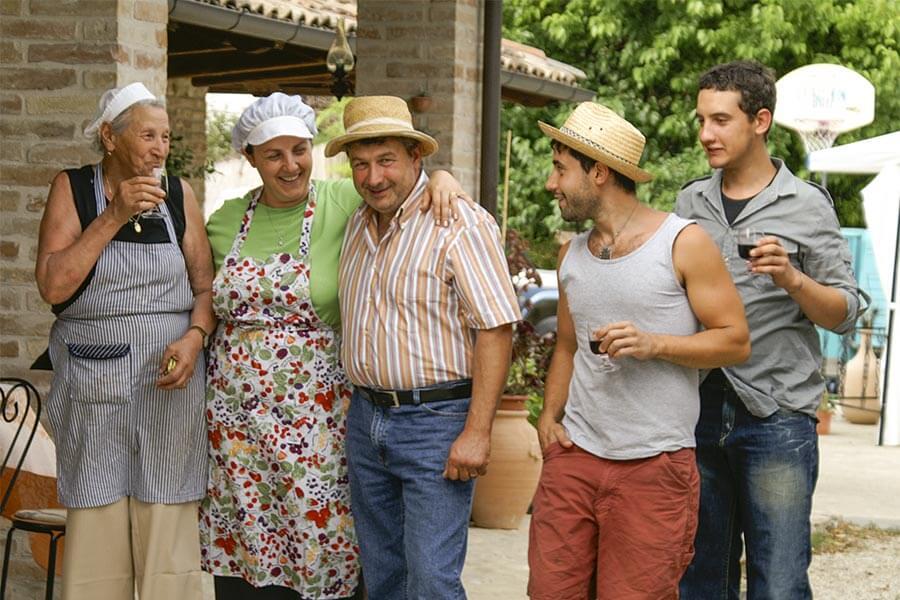Die Familie von La Meridiana, la Nonna, Marilù, Giovanni, Daniele und Alessio © Siegbert Mattheis