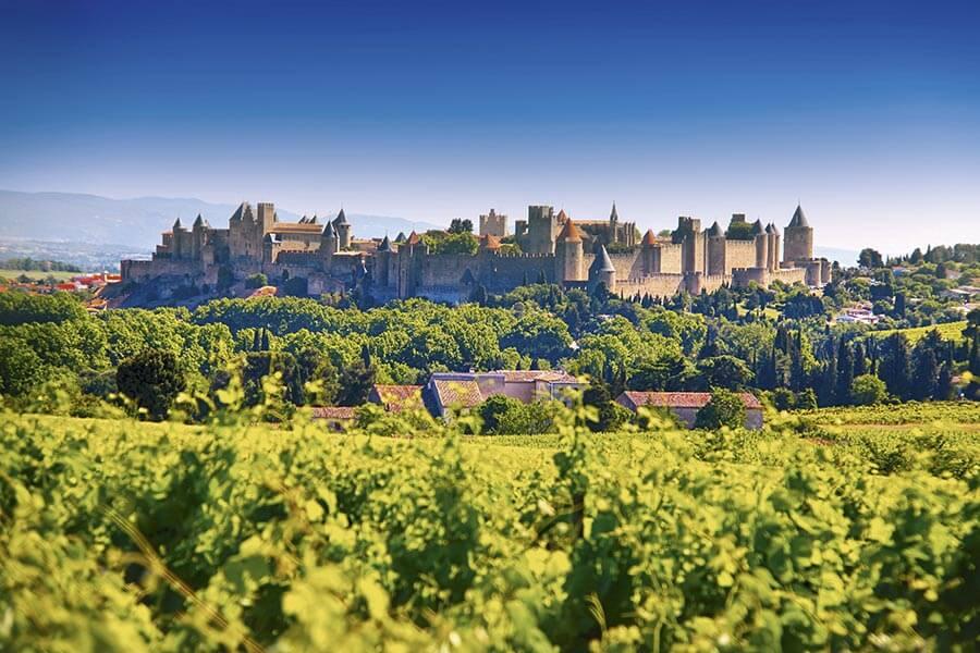 Blick auf das mittelalterliche Carcassonne in Okzitanien © G. Dechamps