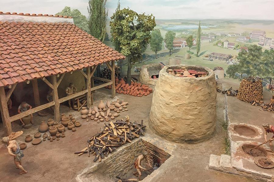 Römische Tonbrennerei, hier eine Nachbildung im Deutschen Museum, München © Foto: Siegbert Mattheis