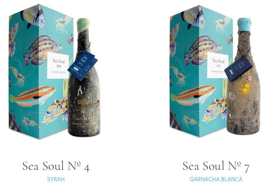 2 Unterwasserweine der Bodega Crusoe Treasure