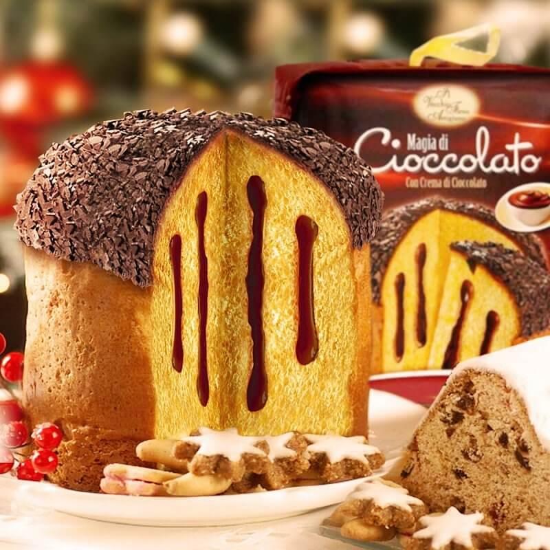 Mit feiner Schokoladencreme gefüllt und mit einer Mütze aus Schokostreuseln versehen ... hmm