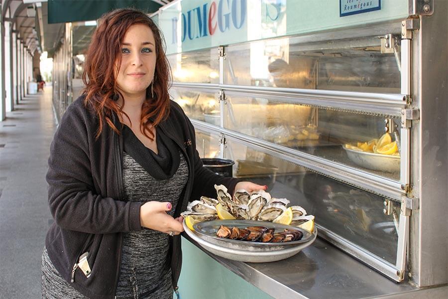 Die größte Auswahl an frischem Fisch und Meeresfrüchten finden Sie im Café Turin © Siegbert Mattheis