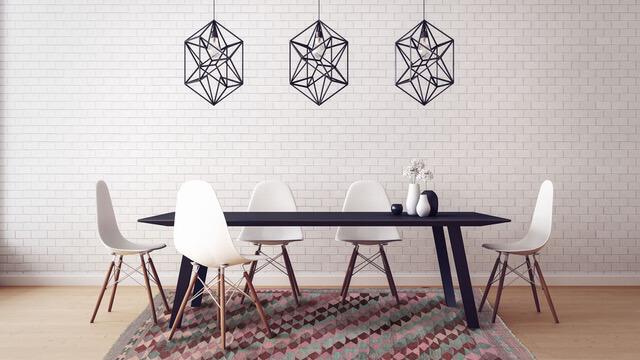 Kelim Teppich mit geometrischen Muster in Pastell © Nain Trading