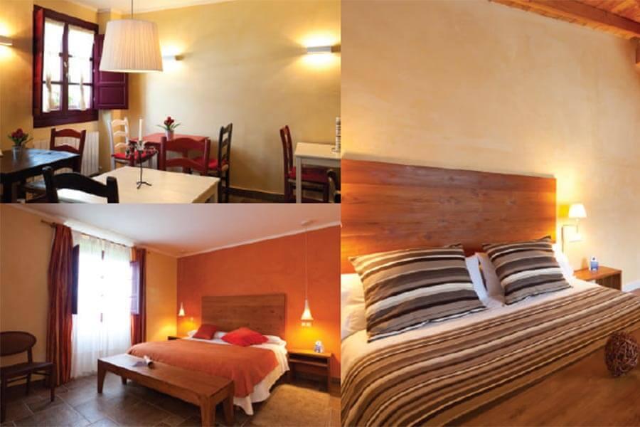 Ansicht von 3 Zimmern im Hotel Etxegorri