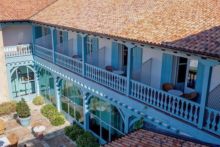 Blick in den Innhof des Palacio Urgoiti