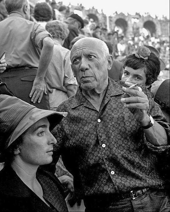 Picasso in einem Souleiado-Hemd