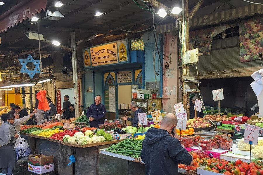 Der Carmel Markt, der größte und bunteste Markt in Tel Aviv © Siegbert Mattheis