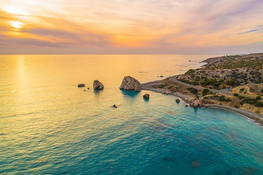 Der Aphroditefelsen, die berühmteste Sehenswürdigkeit Zyperns © f8grapher, Fotolia