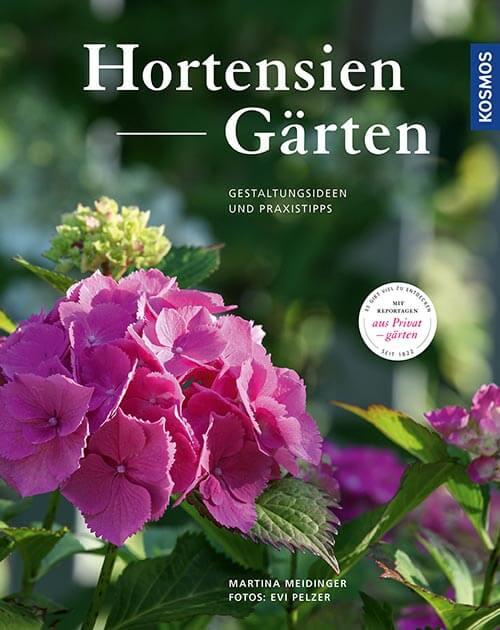 Buchtitel Hortensien Gärten, Gestaltungsideen und Praxistipps © Kosmos Verlag