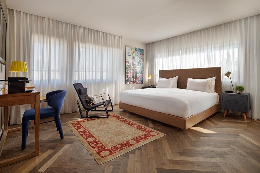 Zimmer im Shenkin Hotel © Assaf Pinchuk