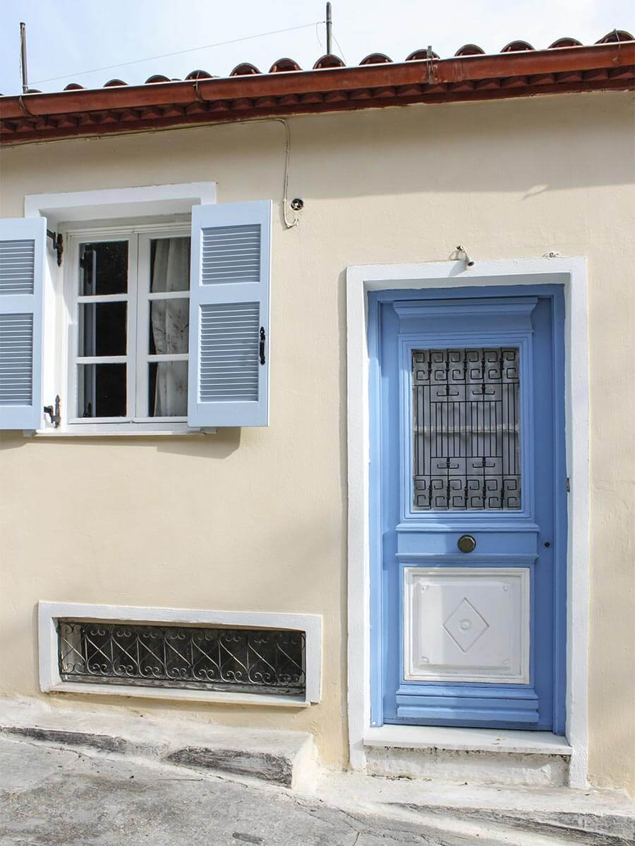 Mediterrane Farbkombination hellblau creme © Siegbert Mattheis