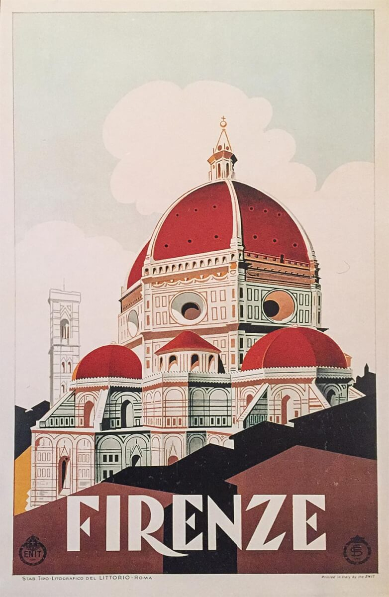 Werbeplakat für Florenz 1928 © ENIT