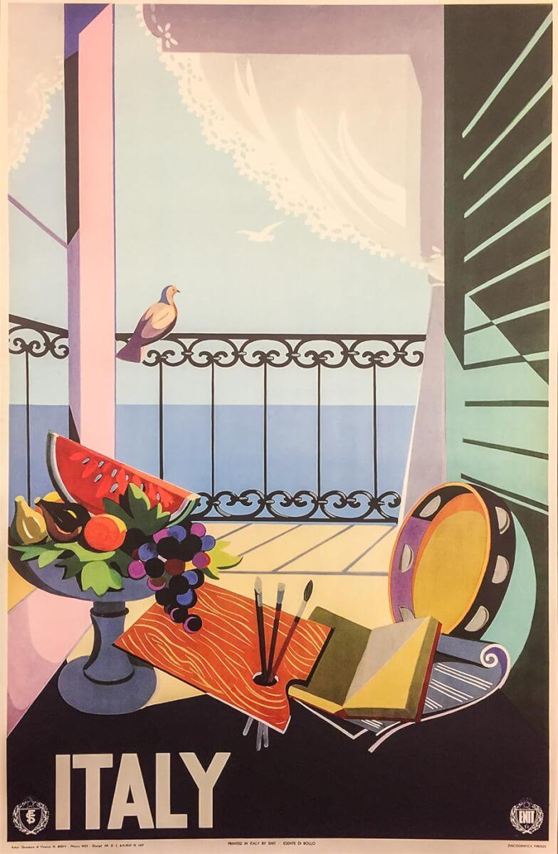 Werbeplakat fürItalien 1955 © ENIT