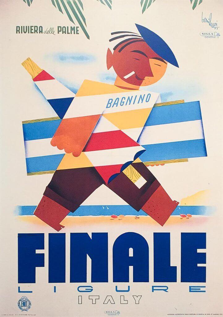 Werbeposter für Ligurien 1947 © ENIT