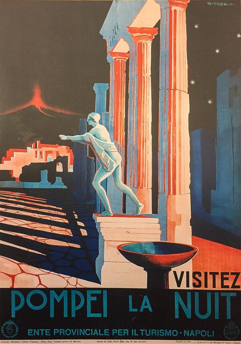Vintage-Poster für Pompeji 1939 © ENIT