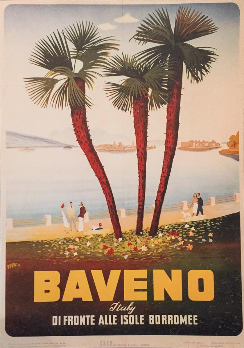Vintage-Werbeplakat für Baveno 1928 © ENIT