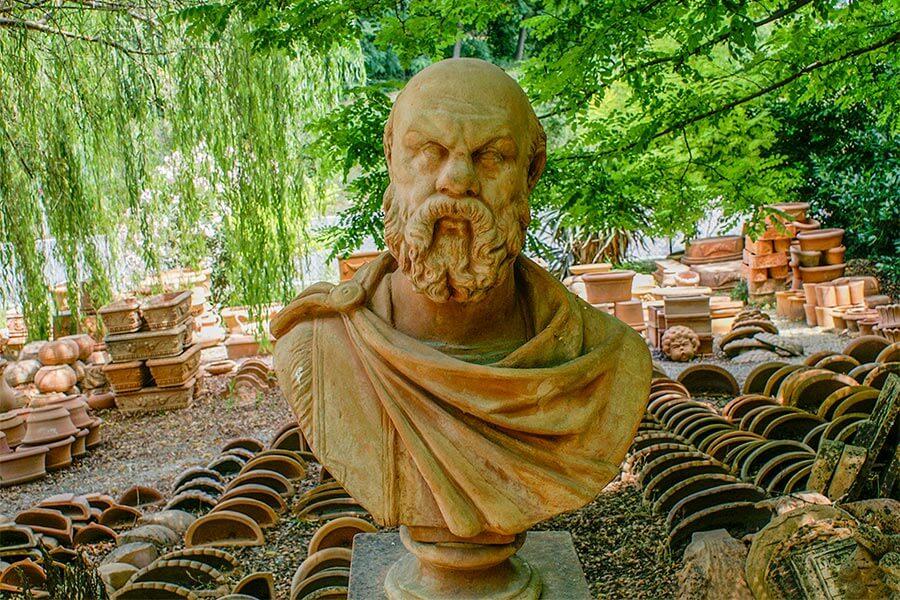 Sokrates in Impruneta-Terracotta © Siegbert Mattheis