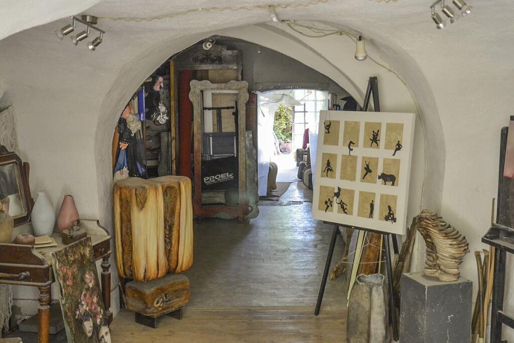 Die Wohnungen sind gleichzeitig Werkstatt und Verkaufsraum © Siegbert Mattheis