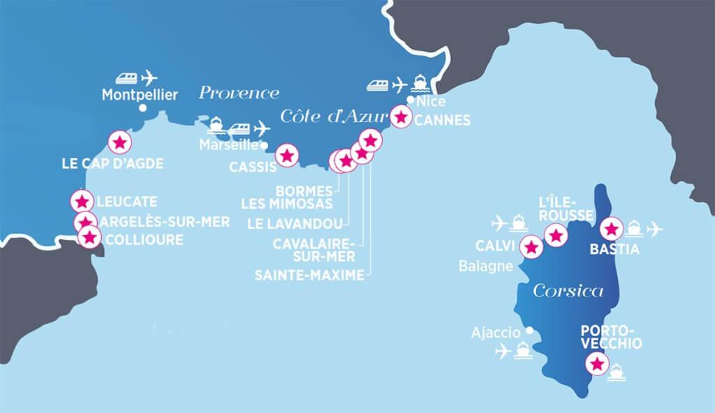 Die wichtigsten Badeorte in Südfrankreich und Korsika © Atoutfrance