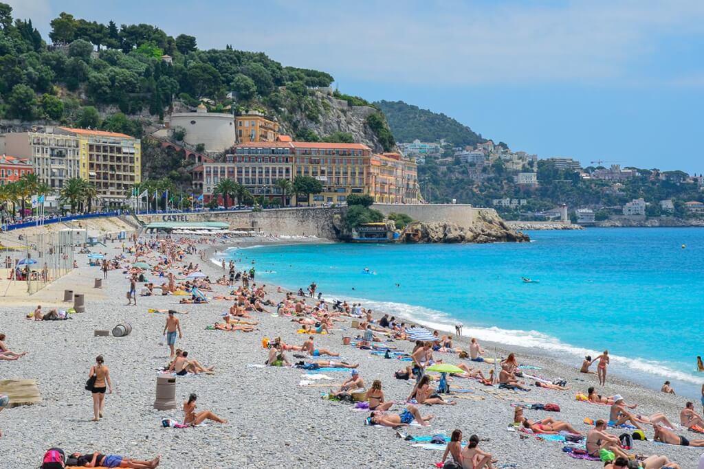 In Nizza liegt man auf Kieselstrand © Siegbert Mattheis