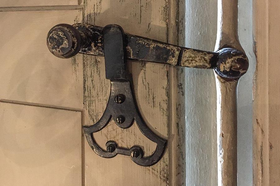 Einfache Espagnolette im Seidenmuseum Lyon © Siegbert Mattheis