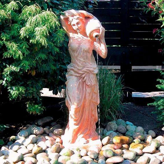 Gartenskulptur aus Terracotta mit Wasserspiel Pötschke