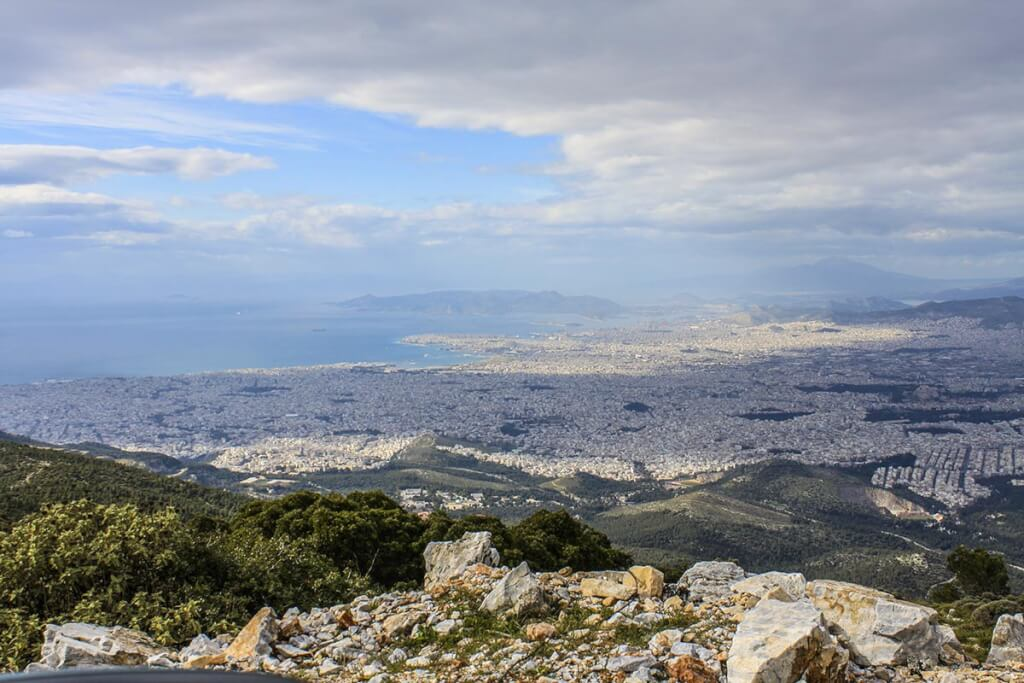 Grandioses Panorama von Athen und Piräus vom Berg Ymittos aus © Siegbert Mattheis
