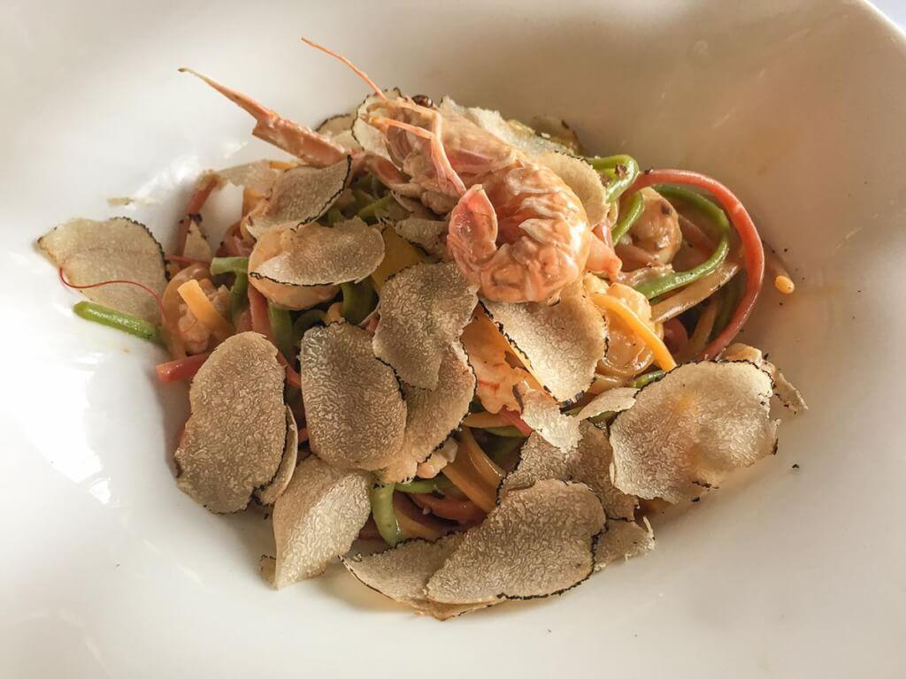 Pasta mit Trüffeln und Meeresfrüchten © Siegbert Mattheis