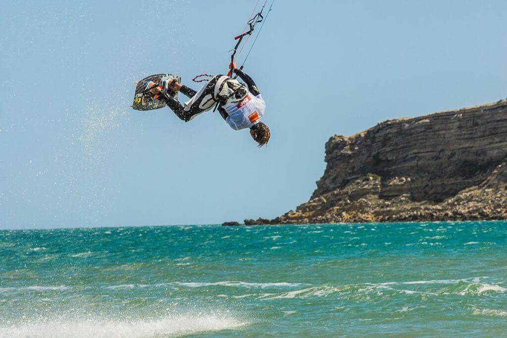 Kitsurfer vor dem Strand von La Franqui © CCCM Bellondrade