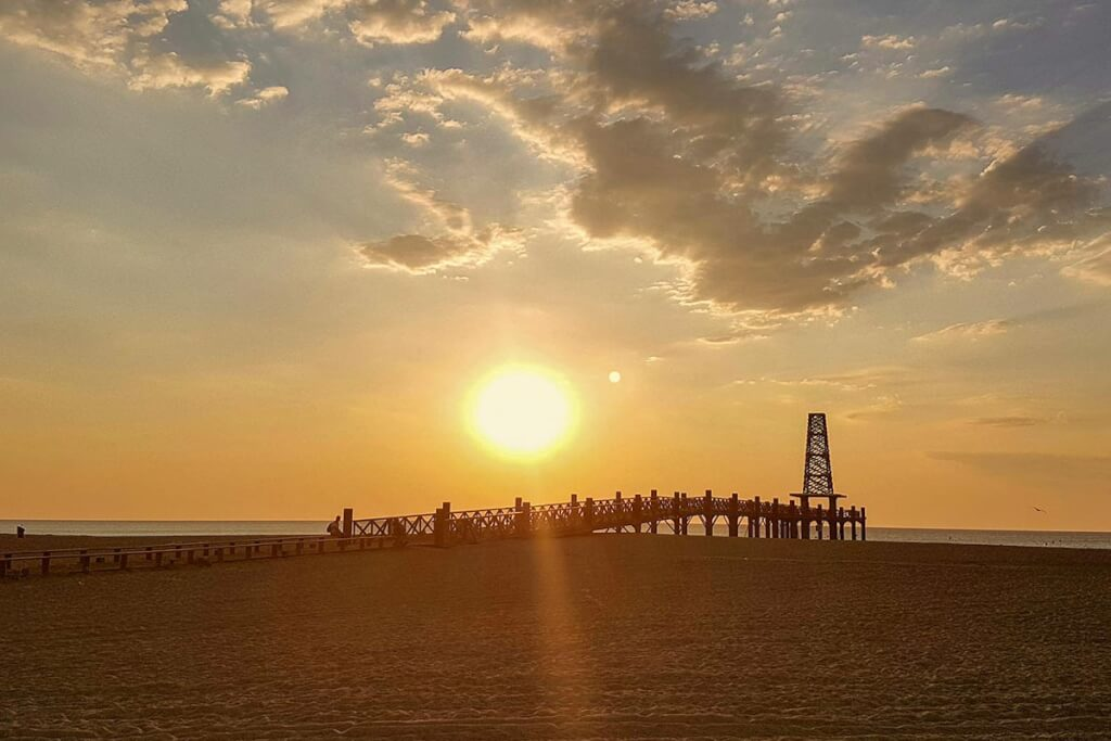 Leucate Strand bei Sonnenaufgang © OT Leucate