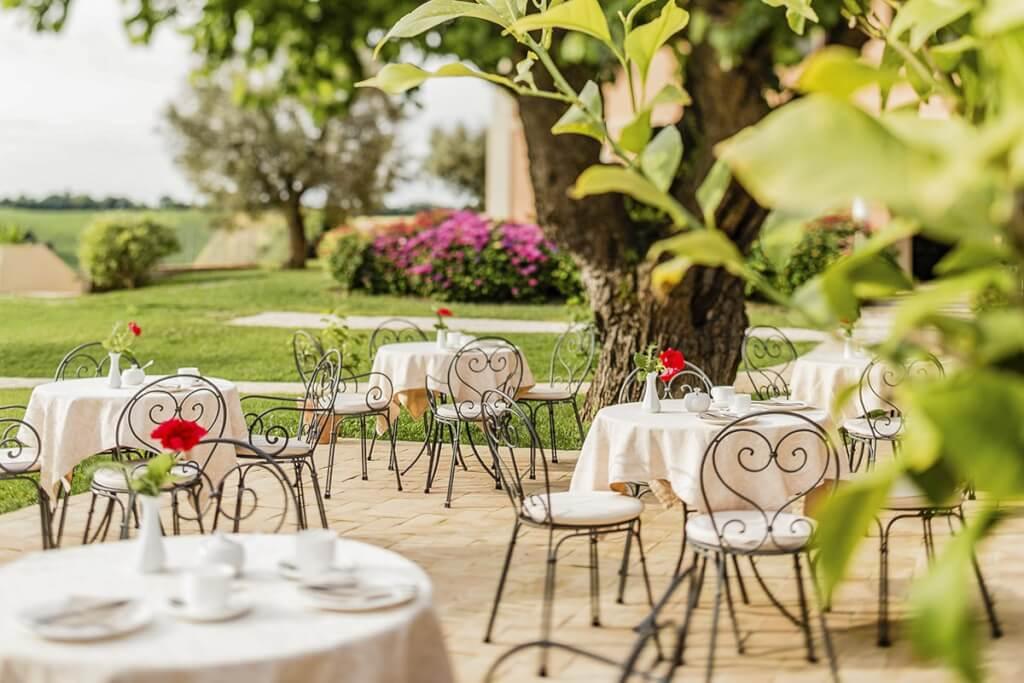 Romantische Terrasse im Poggio Antico © Poggio Antico
